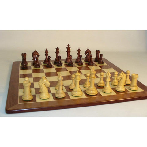 Rswd Camelot on Padauk Brd, WW Chess, India-China, 37RCAM-PM, by WorldWise Imports-Chess Set-Floor Mirror Gallery