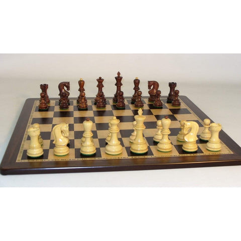 Rosewood Old Russian-Ebony Birdseye, WW Chess, India-China, 37RO-EBM, by WorldWise Imports-Chess Set-Floor Mirror Gallery
