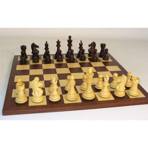 Rosewood Pro on Dark Rswd Brd, WW Chess, India-China, 37RPRO-DR, by WorldWise Imports-Chess Set-Floor Mirror Gallery