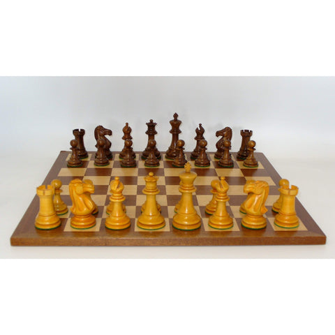 Antiqued Classic on Sapele Board, WW Chess, India-China, 37SAQ-SM, by WorldWise Imports-Chess Set-Floor Mirror Gallery