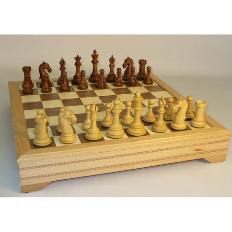 Sheesham Camelot with Chest, WW Chess, India-China, 37SCAM-ICT, by WorldWise Imports-Chess Set-Floor Mirror Gallery