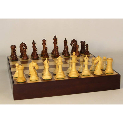 Sheesham Camelot Walnut Chest, WW Chess, India-China, 37SCAM-WCT, by WorldWise Imports-Chess Set-Floor Mirror Gallery