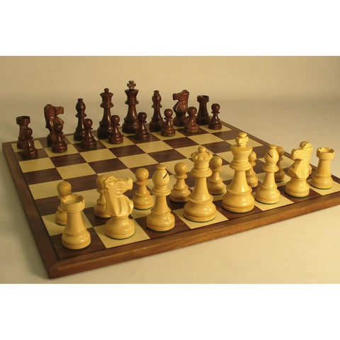 Sheesham French on Walnut Brd, WW Chess, India-China, 37SF-WC, by WorldWise Imports-Chess Set-Floor Mirror Gallery