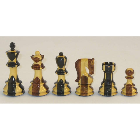 Russian Ebony Inlaid, Checkmate, India, 37SI, by WorldWise Imports-Chessmen-Floor Mirror Gallery