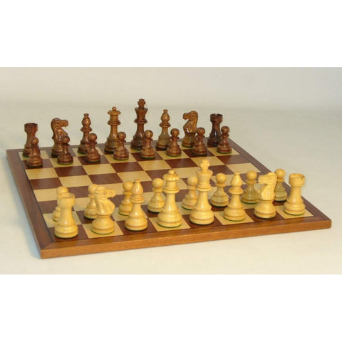 Shshm Lardy Classic on Sapele Brd, WW Chess, India-China, 37SLC-SM, by WorldWise Imports-Chess Set-Floor Mirror Gallery