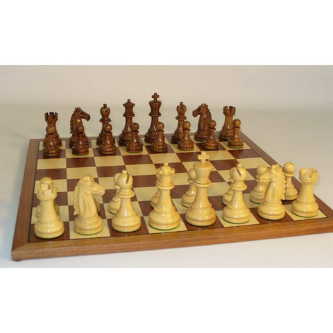 Sheesham Mustang on Sapele Brd, WW Chess, India-China, 37SM-SM, by WorldWise Imports-Chess Set-Floor Mirror Gallery