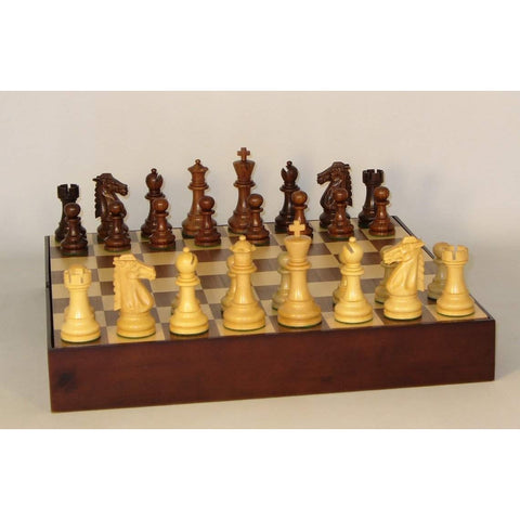 Sheesham Mustang on Walnut Chest, WW Chess, India-China, 37SM-WCT, by WorldWise Imports-Chess Set-Floor Mirror Gallery