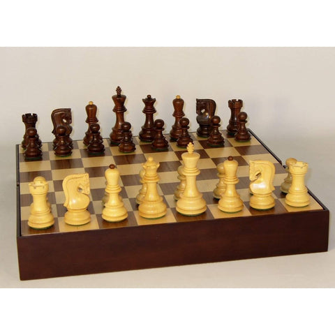 Shshm Old Russian on Walnut Chest, WW Chess, India-China, 37SO-WCT, by WorldWise Imports-Chess Set-Floor Mirror Gallery