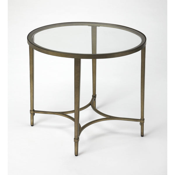 Butler Monica Gold Oval End Table 3801355-Accent Table-Floor Mirror Gallery