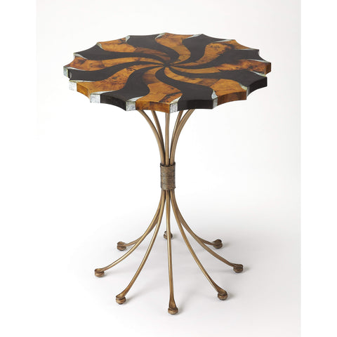 Butler Pinwheel Pen Shell Accent Table 3854025-Accent Table-Floor Mirror Gallery