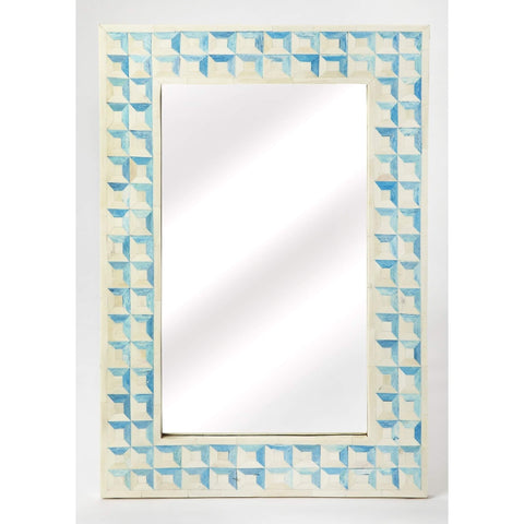Butler Serena Blue Bone Inlay Wall Mirror 3885319-Wall Mirror-Floor Mirror Gallery