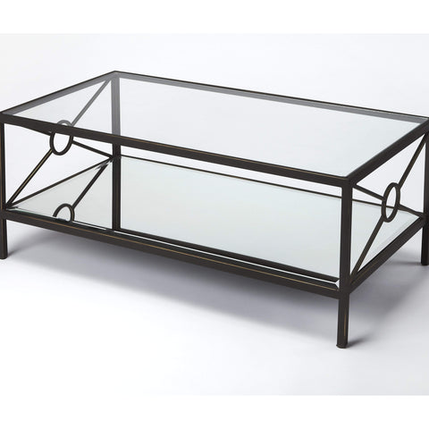 Butler Metropolis Metal & Mirror Coffee Table 3943025-Cocktail Tables-Floor Mirror Gallery