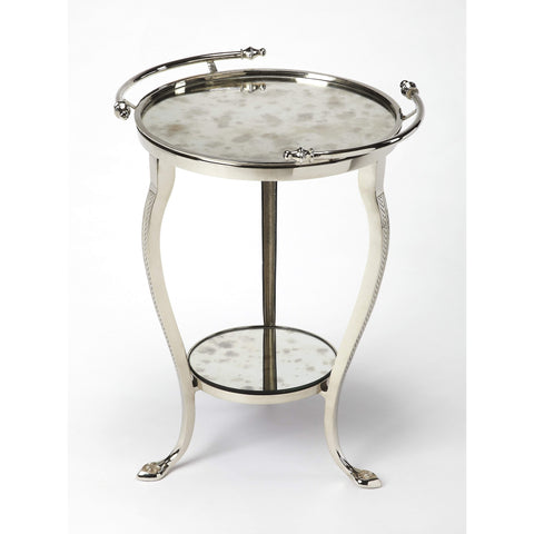Butler Viola Metal & Mirror End Table 3947260-Accent Table-Floor Mirror Gallery