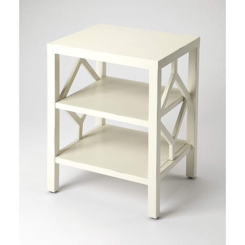 Butler Halcyon White End Table 3954288-Chairside Chests-Floor Mirror Gallery