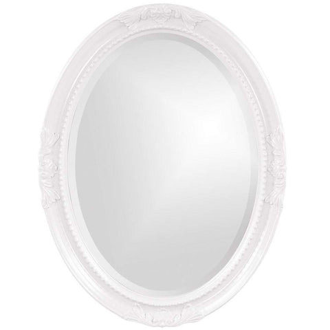 Howard Elliott Queen Ann White Mirror 33H x 25W x 1D - 40101-Wall Mirror-Floor Mirror Gallery