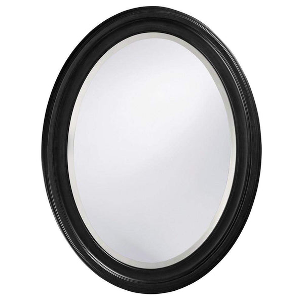 Howard Elliott George Black Mirror 33H x 25W x 1D - 40106-Wall Mirror-Floor Mirror Gallery