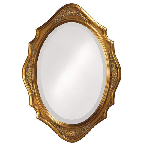 Howard Elliott Trafalga Gold Mirror 27H x 19W x 1D - 4052-Wall Mirror-Floor Mirror Gallery