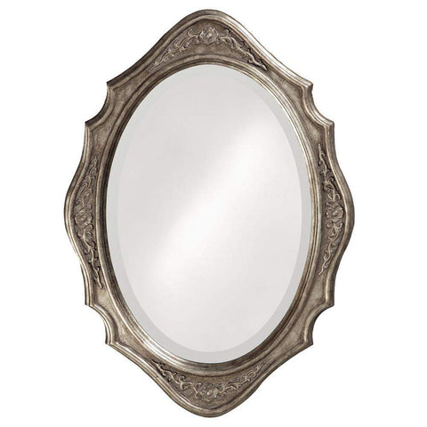 Howard Elliott Trafalga Silver Leaf Mirror 27H x 19W x 1D - 4053-Wall Mirror-Floor Mirror Gallery