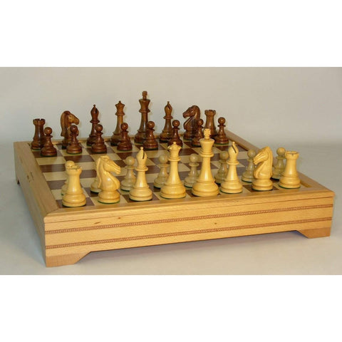 Sheesham Chevalier Beech Chest, WW Chess, India-China, 40SNC-ICT, by WorldWise Imports-Chess Set-Floor Mirror Gallery