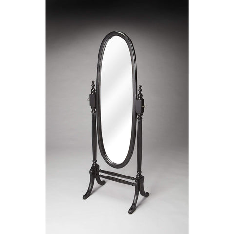 Butler Caroline Black Licorice Cheval Mirror 4109111-Cheval Mirror-Floor Mirror Gallery