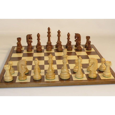 Traditional Russian on Walnut Brd, WW Chess, India-China, 42STR-WC, by WorldWise Imports-Chess Set-Floor Mirror Gallery
