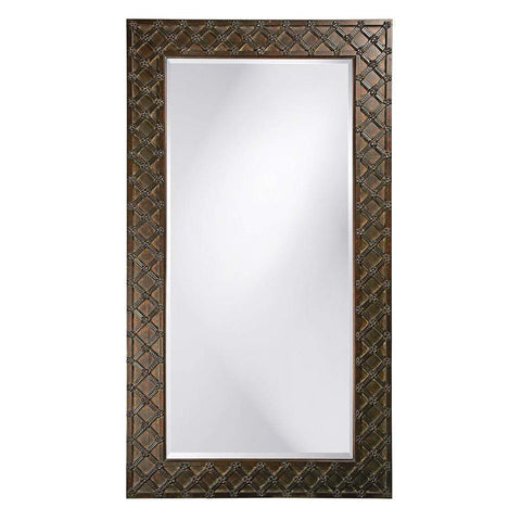Howard Elliott Edgar Leaner Mirror 83H x 45W x 3D - 43048-Wall Mirror-Floor Mirror Gallery