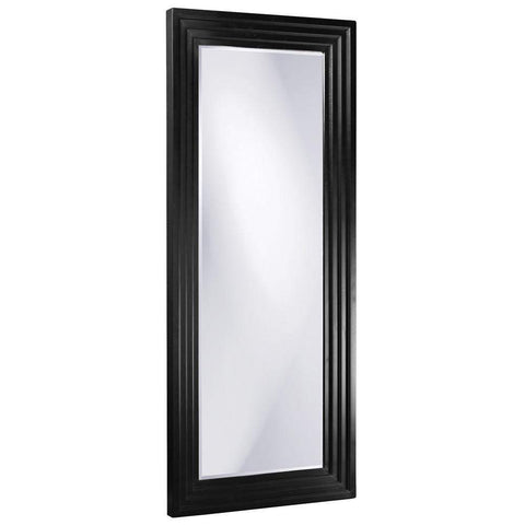 Howard Elliott Delano Black Tall Mirror 82H x 34W x 2D - 43057BL-Wall Mirror-Floor Mirror Gallery