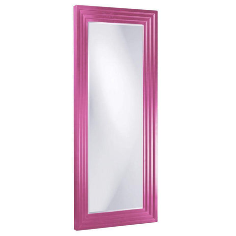 Howard Elliott Delano Hot Pink Tall Mirror 82H x 34W x 2D - 43057HP-Wall Mirror-Floor Mirror Gallery