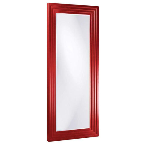 Howard Elliott Delano Red Tall Mirror 82H x 34W x 2D - 43057R-Wall Mirror-Floor Mirror Gallery