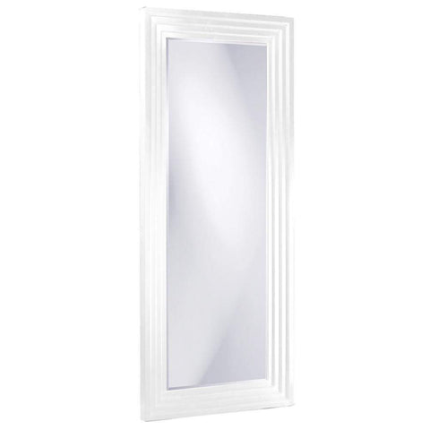 Howard Elliott Delano White Tall Mirror 82H x 34W x 2D - 43057W-Wall Mirror-Floor Mirror Gallery