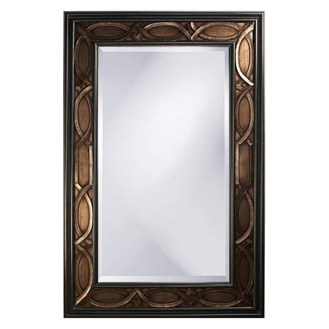 Howard Elliott Charles Bronze Mirror 90H x 60W x 3D - 43070-Wall Mirror-Floor Mirror Gallery