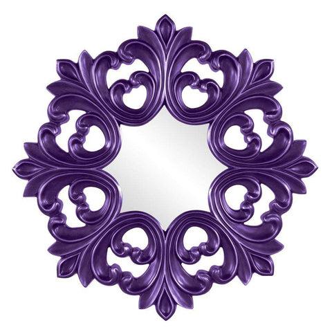 Howard Elliott Annabelle Royal Purple Baroque Mirror 35H x 35W x 2D - 43105RP-Wall Mirror-Floor Mirror Gallery