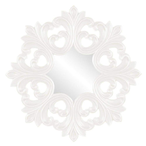 Howard Elliott Annabelle White Baroque Mirror 35H x 35W x 2D - 43105W-Wall Mirror-Floor Mirror Gallery