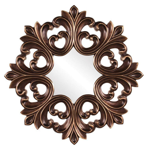 Howard Elliott Annabelle Baroque Mirror 35H x 35W x 2D - 43105-Wall Mirror-Floor Mirror Gallery