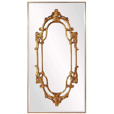 Howard Elliott Akira Gold Baroque Mirror 91H x 47W x 2D - 43116-Wall Mirror-Floor Mirror Gallery