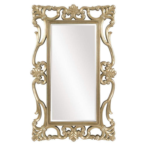 Howard Elliott Whittington Ornate Silver Mirror 71H x 44W x 2D - 43148-Wall Mirror-Floor Mirror Gallery
