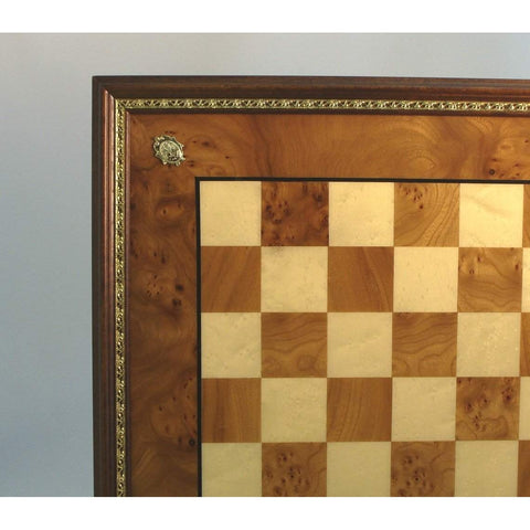 Elm Chess Board Gold trim, Ital Fama, Italy, 432EBG, by WorldWise Imports-Chess Board-Floor Mirror Gallery