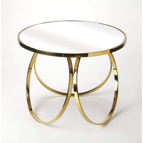 Butler Prentiss Polished Gold End Table 4382402-Accent Table-Floor Mirror Gallery