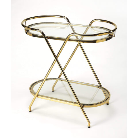 Butler Skylar Polished Gold Tray End Table 4383402-Serving Tables-Floor Mirror Gallery