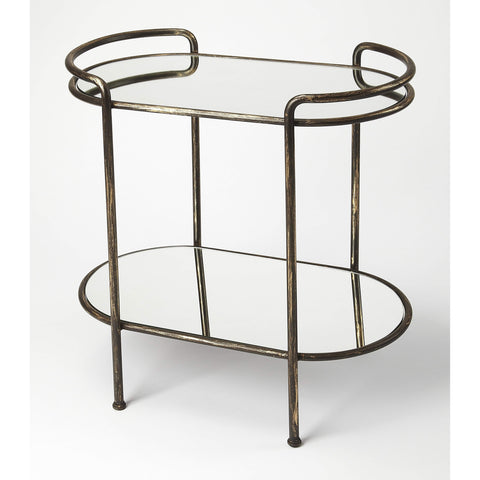 Butler Cicero Metal & Mirror Serving Table 4437330-Serving Tables-Floor Mirror Gallery