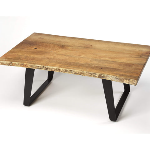 Butler Ambrose Live Edge Rectangular Coffee Table 4443140-Cocktail Tables-Floor Mirror Gallery