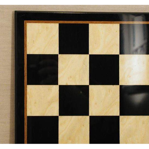 "17"" Black & Madrona Burl Glossy Brd, Ferrer, Spain, 45440BMG, by WorldWise Imports-Chess Board-Floor Mirror Gallery"