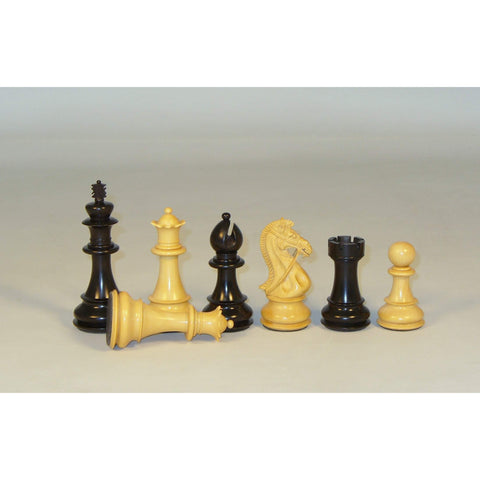 Ebony Bridle Knight, Checkmate, India, 45EBKDQ, by WorldWise Imports-Chessmen-Floor Mirror Gallery