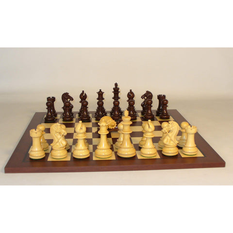 Rosewood Bridle Knight on Jatoba Brd, WW Chess, India-Spain, 45RBKDQ-JD, by WorldWise Imports-Chess Set-Floor Mirror Gallery