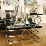 Howard Elliott Stainless Steel Coffee Table 16H x 39W x 39D - 48011-Accent Table-Floor Mirror Gallery