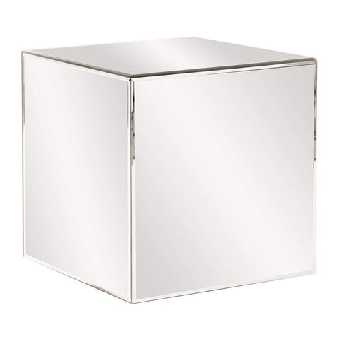 Howard Elliott Mirrored Cube Table 16H x 16W x 16D - 48013-Accent Table-Floor Mirror Gallery