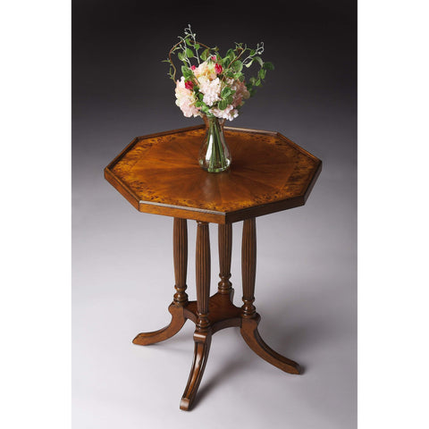 Butler Adolphus Olive Ash Burl Octagonal Accent Table 5015101-Accent Table-Floor Mirror Gallery