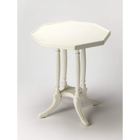 Butler Adolphus Cottage White Octagonal Accent Table 5015222-ACCENT TABLE-Floor Mirror Gallery