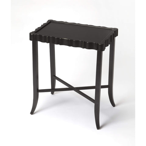 Butler Devon Black Licorice Tea Table 5016111-Cocktail Tables-Floor Mirror Gallery