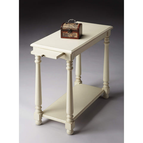Butler Devane Cottage White Chairside Table 5017222-Chairside Chests-Floor Mirror Gallery